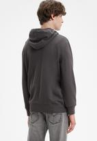 Levi's® - Graphic t3 ssnl boxtab hoodie - charcoal