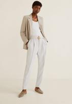 MANGO - Manuels trouser - off white