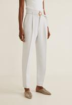 MANGO - Manuels trouser - off white