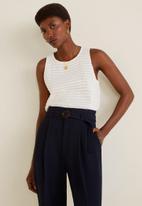 MANGO - Manuels trouser - navy
