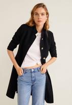 MANGO - Bombon coat - black
