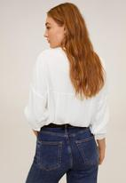 MANGO - Blouse lince - off white