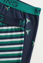 MANGO - Loro boxers - navy & green