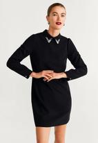 MANGO - Dress maddison - black