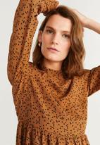 MANGO - Carey dress - rust & black