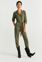 MANGO - Army jumpsuit - khaki