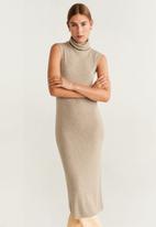 MANGO - Ribbed sleeveless dress - grey