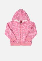 Bee Loop - Girls printed hoody - pink