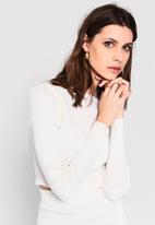 Glamorous - High neck jumper - off white