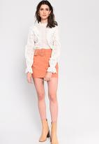 Glamorous - Belted mini skirt - apricot