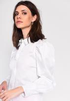 Glamorous - Puff sleeve shirt - white