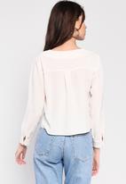 Glamorous - V-neck blouse - white