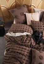 Linen House - Haze duvet cover set - mocha