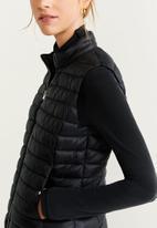 MANGO - Waistcoat blavest - black