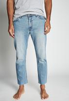 Cotton On - Raw crop jean - vintage blue