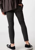 Factorie - Raw hem skinny leg jean - washed black