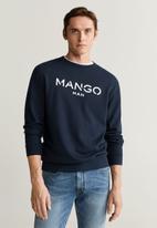 MANGO - New-h sweatshirt - navy