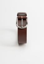 MANGO - Ivan leather belt - brown