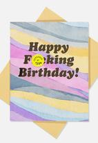 Typo - Funny birthday card - multi