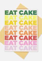 Typo - Nice birthday card - multi