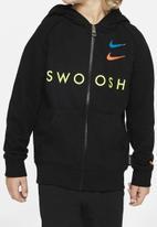 Nike - Nike boys swoosh hooded full zip jacket - black