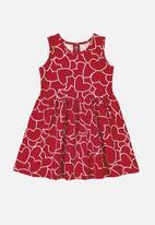 Bee Loop - Girls dress & shrug set - red & white