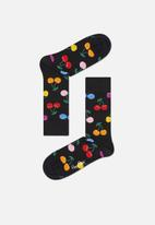 Happy Socks - Cherry socks - black & yellow