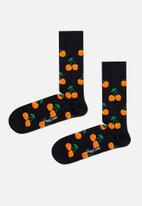 Happy Socks - Cherry sock - black & orange