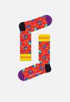 Happy Socks - Radio ga ga sock - red