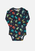 UP Baby - Boys printed bodysuit - navy/multi