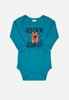UP Baby - Boys printed bodysuit - blue