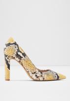 ALDO - Febriclya leather heel - yellow