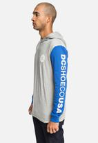 DC - Pullover colourblock LS hooded tee - grey