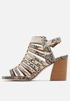 Call It Spring - Viscaria heel - black & white