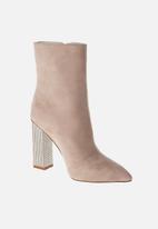 Sissy Boy - Bling block ankle boot - neutral