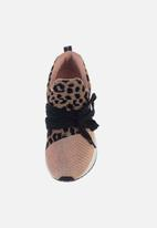 Sissy Boy - Creeper animal print sneaker - rose gold