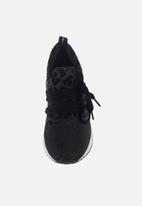 Sissy Boy - Creeper animal print sneaker - black