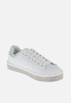 Sissy Boy - Dont look back sneaker - white & silver