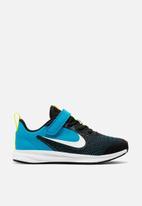 Nike - Nike downshifter 9 - black, white & lazer blue