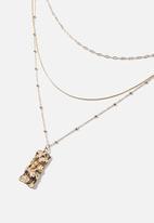 Rubi - Molten pendant satellite chain treasures necklace - gold