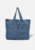 Rubi - Max washed weekend tote bag - blue