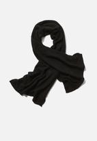 Rubi - Rebecca rib knit scarf - black