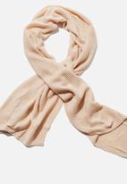Rubi - Rebecca rib knit scarf - oat