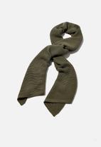 Rubi - Rebecca rib knit scarf - khaki