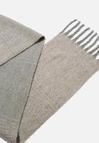 Rubi - Pippa brushed tassel scarf - grey & rose