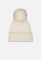 Rubi - Elyse pom pom beanie - winter white