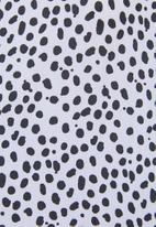 Superbalist - Tiered dress - black & white