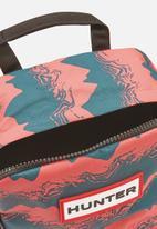 Hunter - Original nylon backpack  - blue & pink