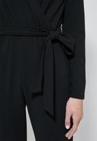 Superbalist - Wrap jumpsuit - black
