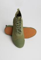 SUPERGA - 228 Cotu canvas logo boot - full green cap olive